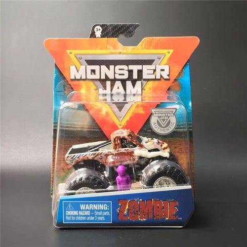 1: 64 оригинальные горячие колеса гигантские колеса Crazy Barbarism Монстр металлическая модель грузовика игрушки Hotwheels большая ножная машина детский подарок на день рождения - Цвет: Zombie Monster Jam