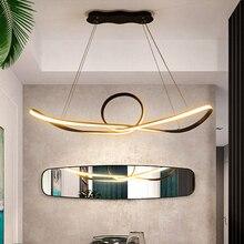 Kostenloser Versand Fernbedienung Dimmen Moderne Led Anhänger Licht Led Anhänger Lampe Aluminium 90 265V Suspension Lampe für Esszimmer zimmer