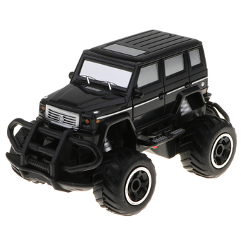 1/43 Remote Control Monster Truck Crawlers Off-road Racing Car Buggy Toy High Speed RC Vehicles Model - Black image