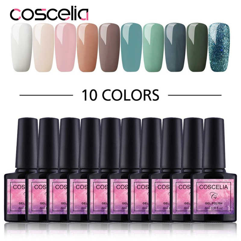COSCELIA 6/10 Pcs Gel Nail Polish Set Voor Nagel Uitbreiding Kit Nail Art Gel UV Polish Vernis Ontwerp acryl nail manicure Set