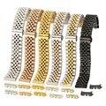 Ремешок из нержавеющей стали с плоскими изогнутыми концами для мужских и женских наручных часов, универсальный металлический браслет, 12 14 16...
