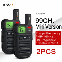 2 قطعة لاسلكي صغير FRS تخاطب PMR446 راديو VOX يدوي اتجاهين راديو مع الاهتزاز استنساخ لاسلكي