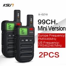 2PCS Mini FRS Walkie Talkie PMR446 Radio VOX Handsfree Two Way Radio with Vibration Wireless Cloning