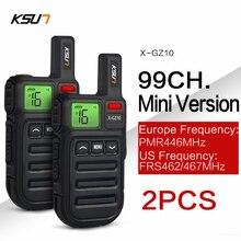 Mini 2 FRS Bộ Đàm PMR446 Đài Phát Thanh VOX Tay 2 Chiều Đài Phát Thanh Có Rung Không Dây Nhân Bản Vô Tính