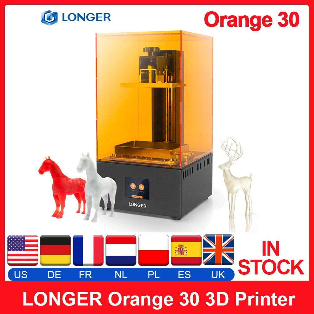 3D-принтер LONGER Orange 30, высокоточный SLA 3D-принтер с ЖК-экраном 2K, параллельное светодиодное освещение, 405 нм, принтер для смолы