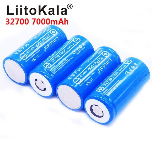 8pcs/ LiitoKala 3.2V 32700 7000mAh Lii 70A LiFePO4 Batteria 35A Scarico Continuo Massimo 55A batteria Ad Alta potenza