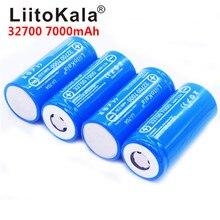 Bateria de liitokala 3.2v 32700 7000mah, 8 peças/liitokala Lii 70A lifepo4 35a descarga contínua máxima 55a bateria de alta potência