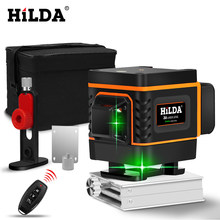 3D 12 Lines Green Laser Level 360 Degree Adjustment Higher Visibility With Self-leveling Horizontal Vertical(China)