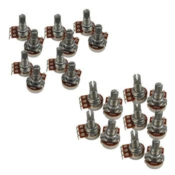 20 Pcs Guitar Small Size Pots B500K Potentiometers for Guitar Bass Parts - 10 Pcs B500K & 10 Pcs A500K 6637s 1 502 potentiometers mr li