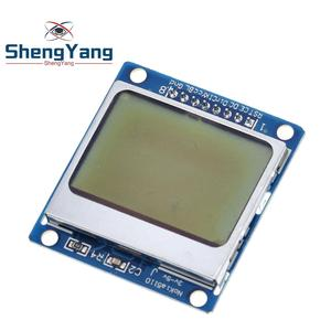 1pcs ShengYang High Quality 84*48 84x48 LCD Module White backlight adapter PCB for Nokia 5110 for Arduino Hot Worldwide(China)