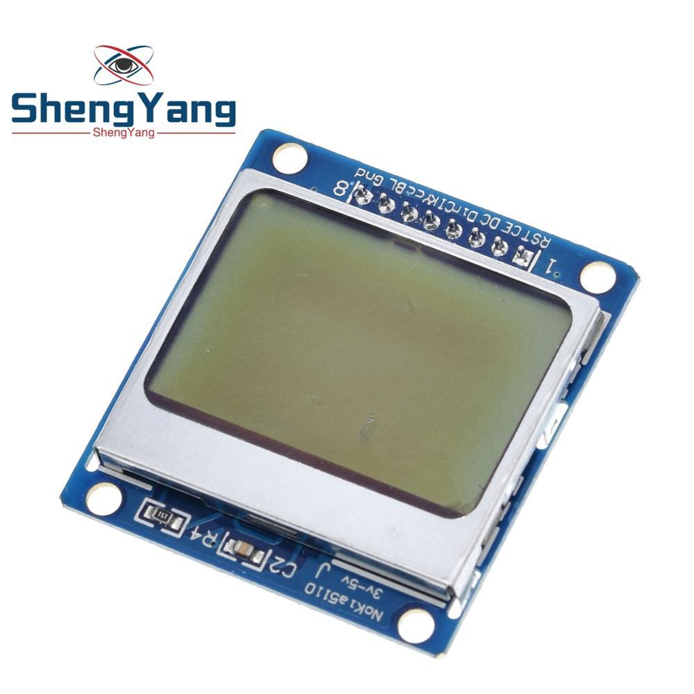 1pcs ShengYang di Alta Qualità 84x48 84*48 Modulo LCD Bianco  retroilluminazione adattatore PCB per Nokia 5110 per Arduino Hot In  Tutto Il Mondo-in Moduli LCD da Materiali e componenti elettronici su
