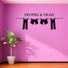 Kililaya – autocollant mural en PVC, Propre et Frais, pour la décoration des toilettes, décoration murale de la maison