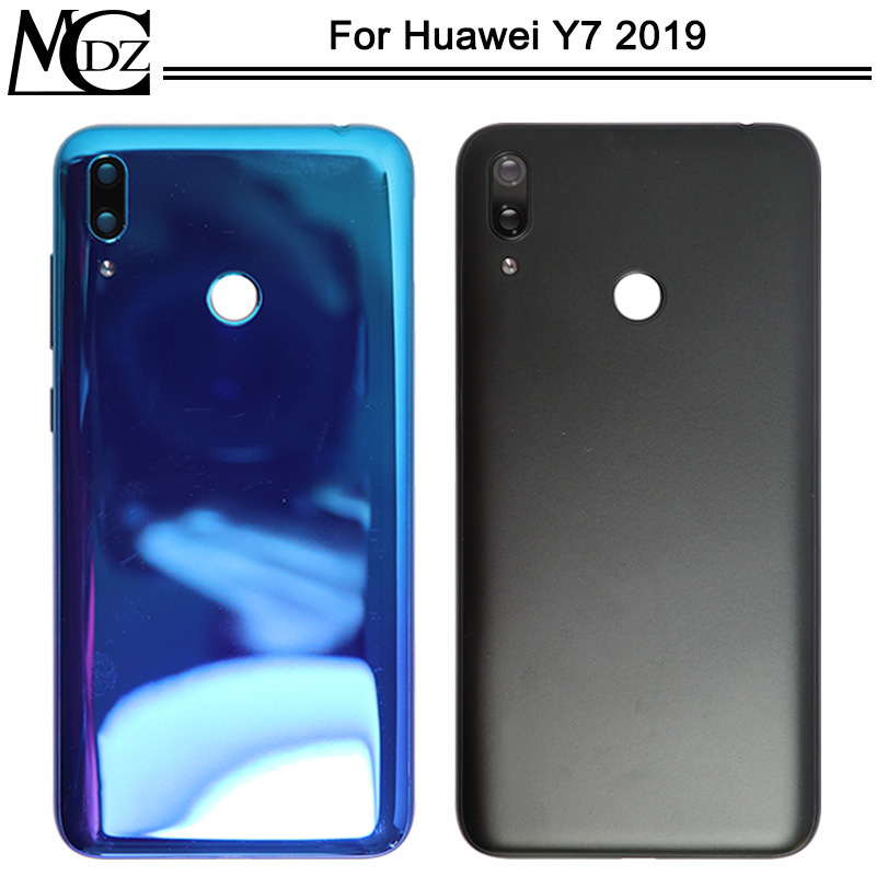 New Y7 2019 Battery Cover For Huawei Y7 2019 / Y7 Prime 2019 Phone Back Rear Housing Case Cover Lid