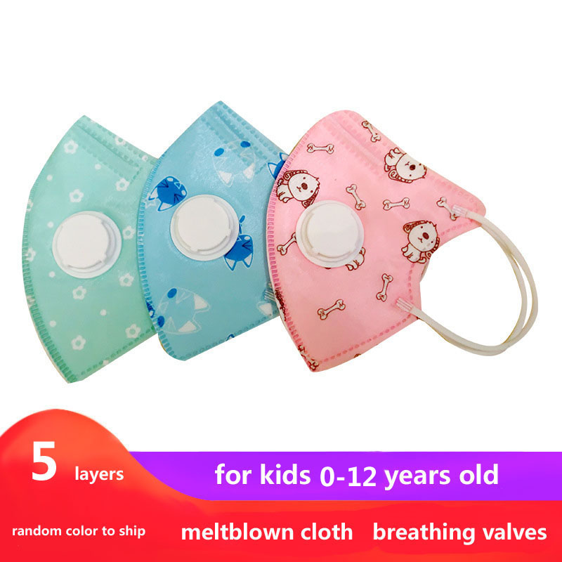 Kids Mask Mascaras Faciais Gripe Dustproof Anti-fog And Breathable Face Masks Meltblown Cloth For Children Smog Mask