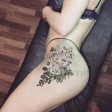 Водостойкая Временная тату-наклейка, птица, цветок, роза, искусственный тату, крутой флэш-тату, татуаж, временное боди-арт для девочек, женщи...