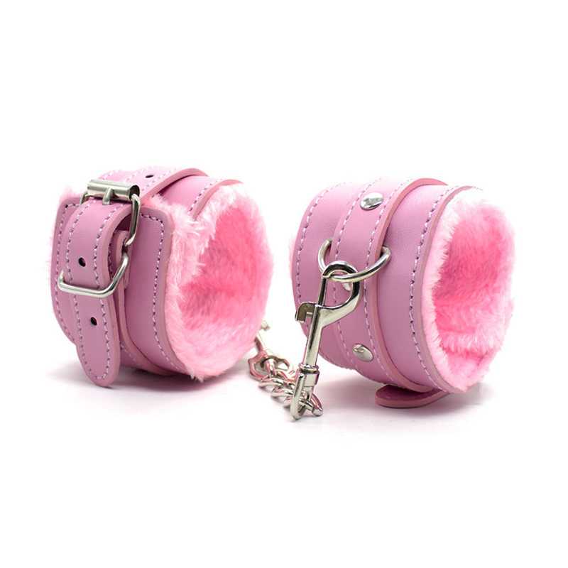 Red Black Pink Colors PU Leather Handcuffs Foot Shackles For Hot Girls Nightclub Bar Party Shows Enjoy More Sex Fun Cosplay