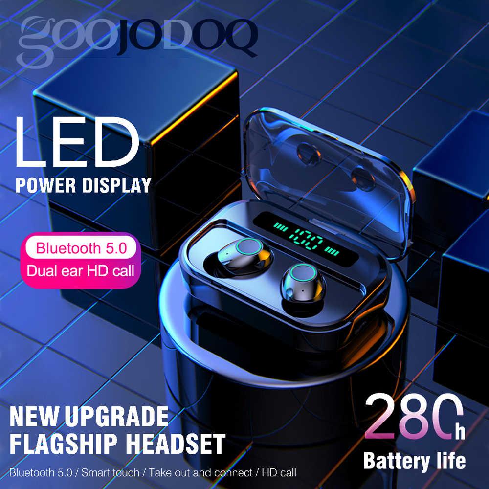 Ture Tai Nghe Không Dây IPX7 TWS 5.0 Bluetooth HIFI Thể Thao Chống Nước LED Tai Nghe Nhét Tai có mic Power Bank