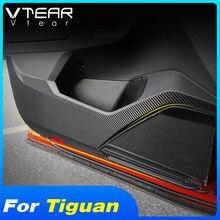 Vtear для VW Tiguan MK2 Автомобильная дверь анти kick стикер углеродное волокно внутренние защитные наклейки на двери авто продукты Аксессуары