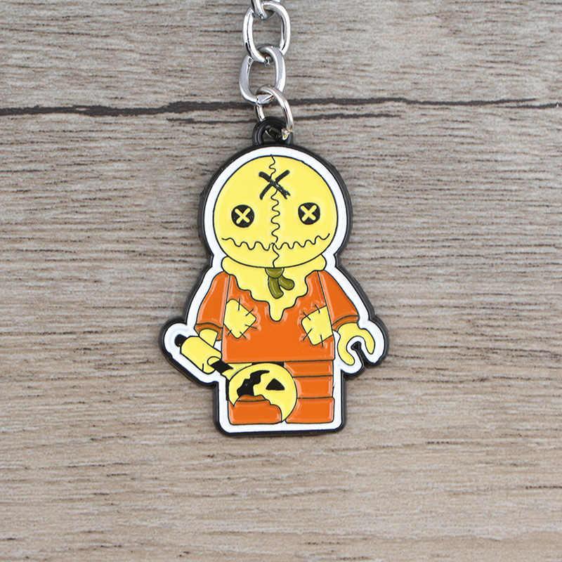 K711 Halloween Trang Sức Trick 'R Treat Kinh Dị Móc Khóa Phím Vòng Tặng Cho Người Hâm Mộ Mặt Dây Chuyền Chìa Khóa Chìa Khóa Xe Ô Tô Nhẫn Nam bộ Trang Sức