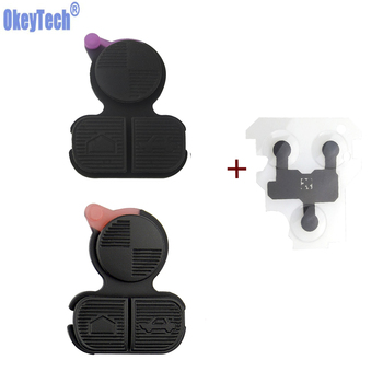 OkeyTech 3 Buttons Remote Car Key Shell Buttons Repair Pad & Conduction Film For BMW Series 3 5 7 E38 E39 E36 Z3 Z4 Z8 X3 X5 image
