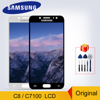 Original C8 2017 Display For Samsung Galaxy C8 LCD C7100 C710F LCD Display Touch Screen Digitizer Replacement Parts