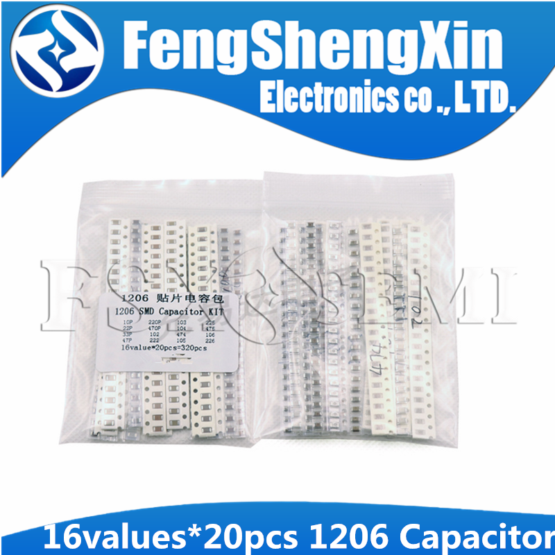 320Pcs 1206 SMD Capacitor assorted kit LEJKUS