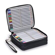 Canvas 72 Holes Pencil Case School Big Cartridge Large Penal for Girls Pencilcase Boys Pen Box Stationery Bag Kit Supplies Pouch