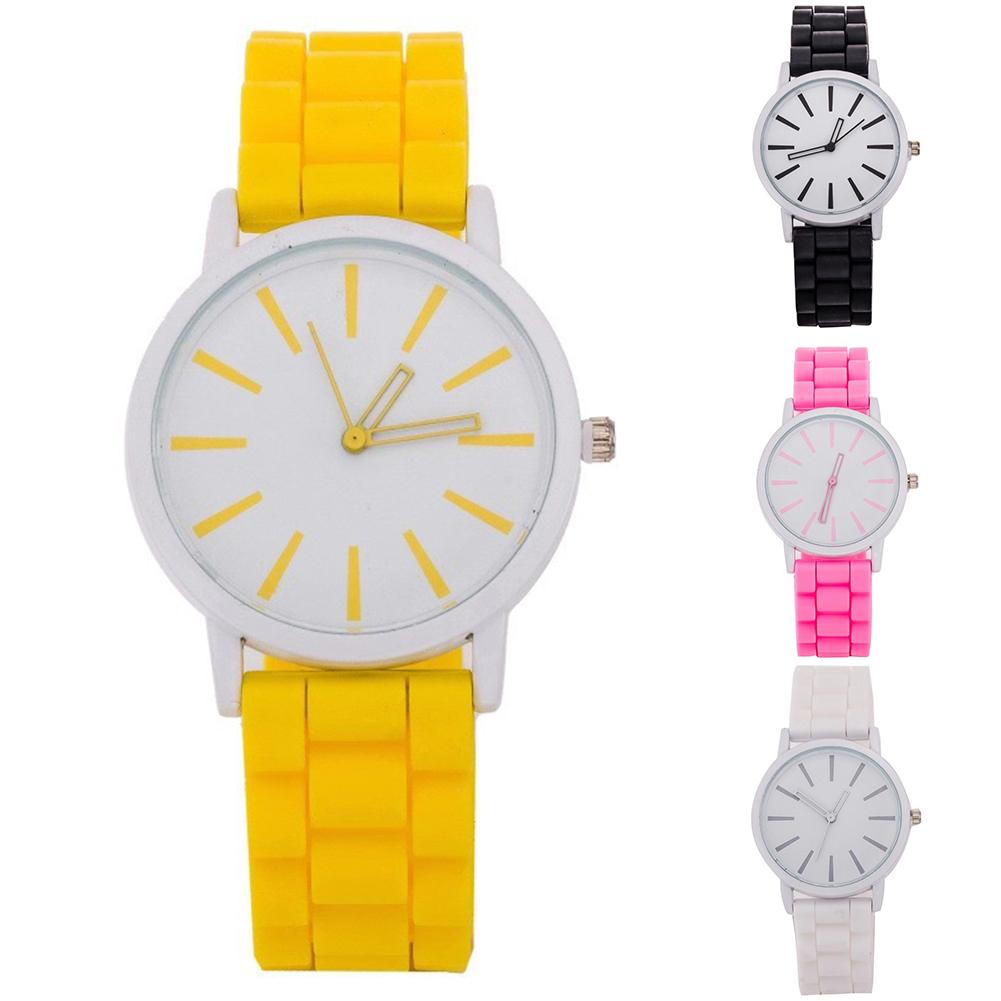 Fashion Women Candy Color Round Dial Silicone Band Analog Quartz Wrist Watch Christmas Gifts Tendencia 2020 Mujer