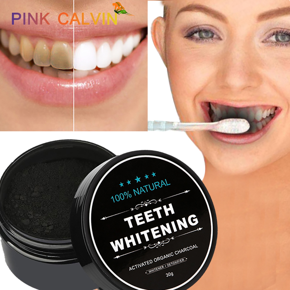 30g Tooth Whitening Powder Activated Bamboo Charcoal Toothpaste  Tartar Stain Removal Natural Teeth Whitening Charcoal Powder