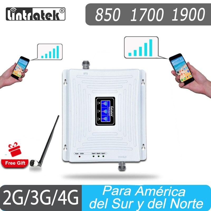 Repetidor De Señal Signal Repeater Lintratek 2G 3G 4G Signal Amplifier 850 CDMA 1900 PCS 1700 AWS Booster Cellphone Amplifier