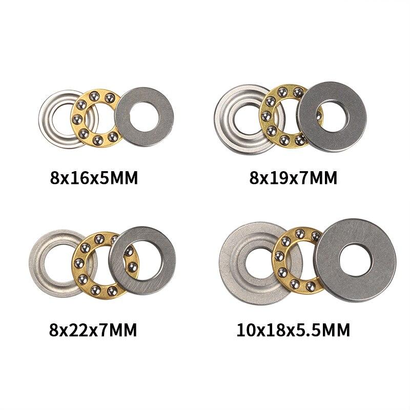 Conjunto axial 8mm/10mm do rolamento de esferas do metal dos rolamentos de esferas f8/f10 diminutos para acessórios do ferragem