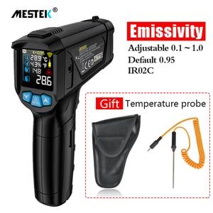 Image 1 - MESTEK termometro infrarojo цифровой лазерный температурный пистолет termometro цветной ЖК дисплей с сигнализацией температура окружающей среды измеритель влажности термометр термометр инфракрасный тепловизор инкубатор