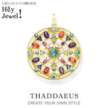 Pendants Paradisiacal Nature Amulet,2020 New Jewelry Bohemia 925 Sterling Silver Accessories Golden Happy Free Gift For Women