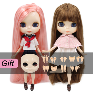 ICY factory blyth doll toy joint body bjd white skin shiny face 1/6 toy 30cm on sale special offer(China)