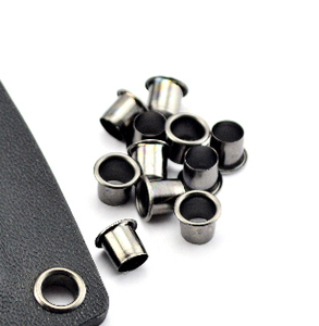 Image 3 - 100 Pieces Kydex painted black bronze leather DIY Garment Kydex Eyelets 7x6mm