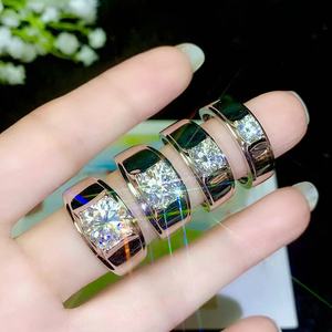 Image 5 - BOEYCJR 925 Silver 0.5ct/1ct/2ct/3ct F color Moissanite VVS  Engagement Wedding Diamond Ring for Men With national certificate