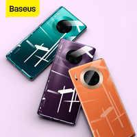 Baseus luxo transparente caso de telefone para huawei companheiro 30 ultra fino duro caso do telefone para huawei companheiro 30 pro capa traseira