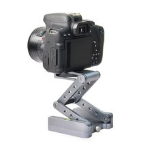 Z pan tripod head Flex folding type tilt for Canon Nikon Sony DSLR camera Aluminum alloy Tripod heads solution