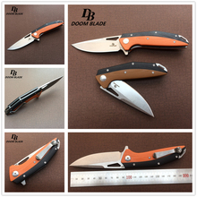 """7.9"""" Plus Knives 60 61HRC Folding Knife D2 Blade G10 Handle Ball Bearing Outdoor Tactical Survival Camping Utility Military"""