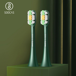 SOOCAS X3U-Van Gogh Electric Toothbrush Heads Replacement Toothbrush Heads Vacuum Original Authentic Replacement Heads Green