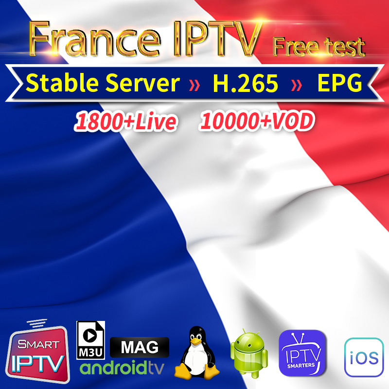 1 Year IPTV France Subscription Arabic Algeria Germany Belgium Netherlands French IPTV Code Android M3U Mag Free Test IP TV