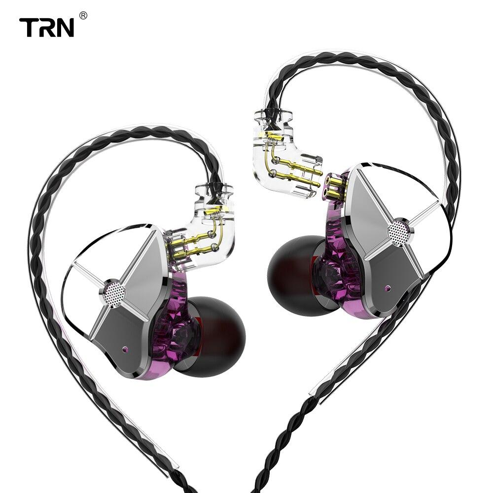 TRN ST1 наушники-вкладыши 1BA 1DD гибридные металлические IEM DJ HIFI мониторы для бега спортивные наушники-вкладыши гарнитура TRN V90 V80 BA5 V30 IM1