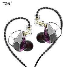 Fone de ouvido trn st1 1ba 1dd híbrido de metal, fone de ouvido headset para corrida e esporte, trn v90 v80 ba5 v30 im1