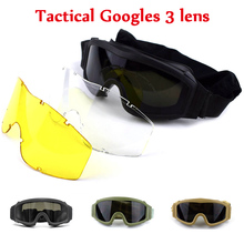 Army-Glasses Sport-Protective Military-Goggles Tactical-Gear Paintball Airsoft Hunting