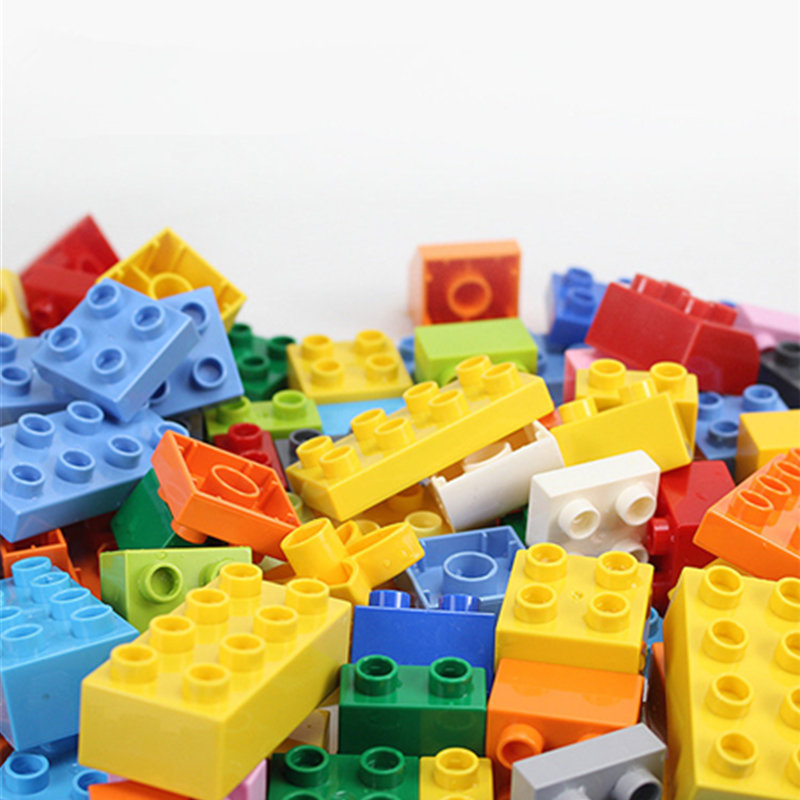 50-235PCS Big Size Building Blocks Colorful Bulk Bricks Car Animal Model  Learning Toys For Children Gifts Legoingys Duploed