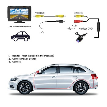 170 ° Car Rear View Camera Universal LED Night Vision Backup Parking Reverse Camera Waterproof 170 Wide Angle HD Color Image 1