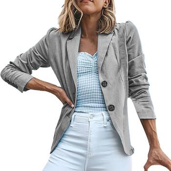 SAGACE 2020 moda damska marynarka casualowa biznesowa marynarka bluza z długim rękawem znosić panie szara marynarka Slim Coat tanie i dobre opinie REGULAR Ścięty Pojedyncze piersi Poliester Pełna Na co dzień Kieszenie Stałe ladies jackets and blazers ladies jackets suit