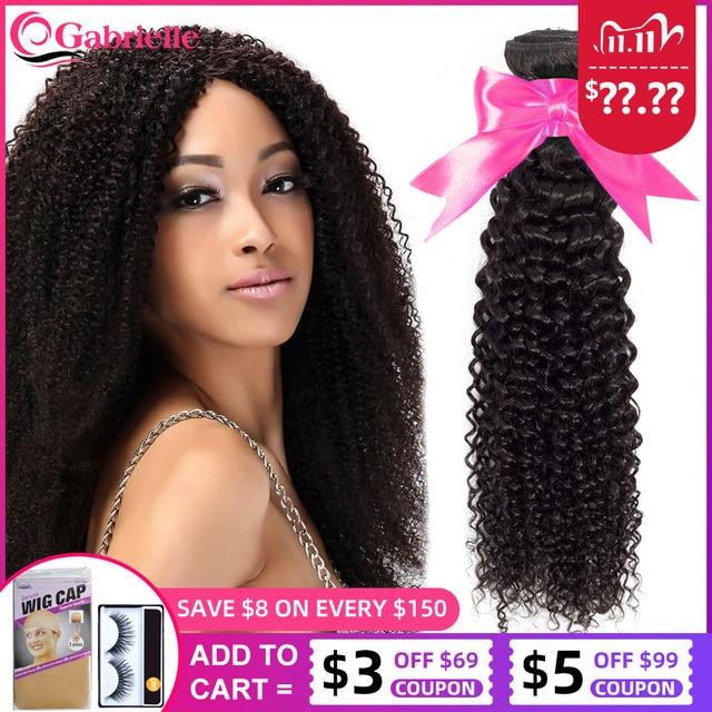 Extensiones de cabello humano malayo, mechones rizados, Color Natural, tejido de pelo rizado, envío gratis