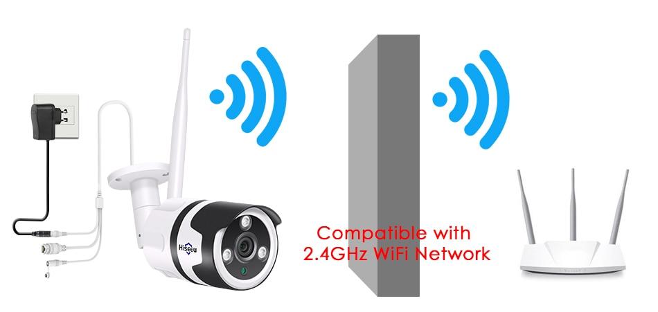 Hiseeu 2MP Wifi Waterproof Outdoor IP Security Camera 8