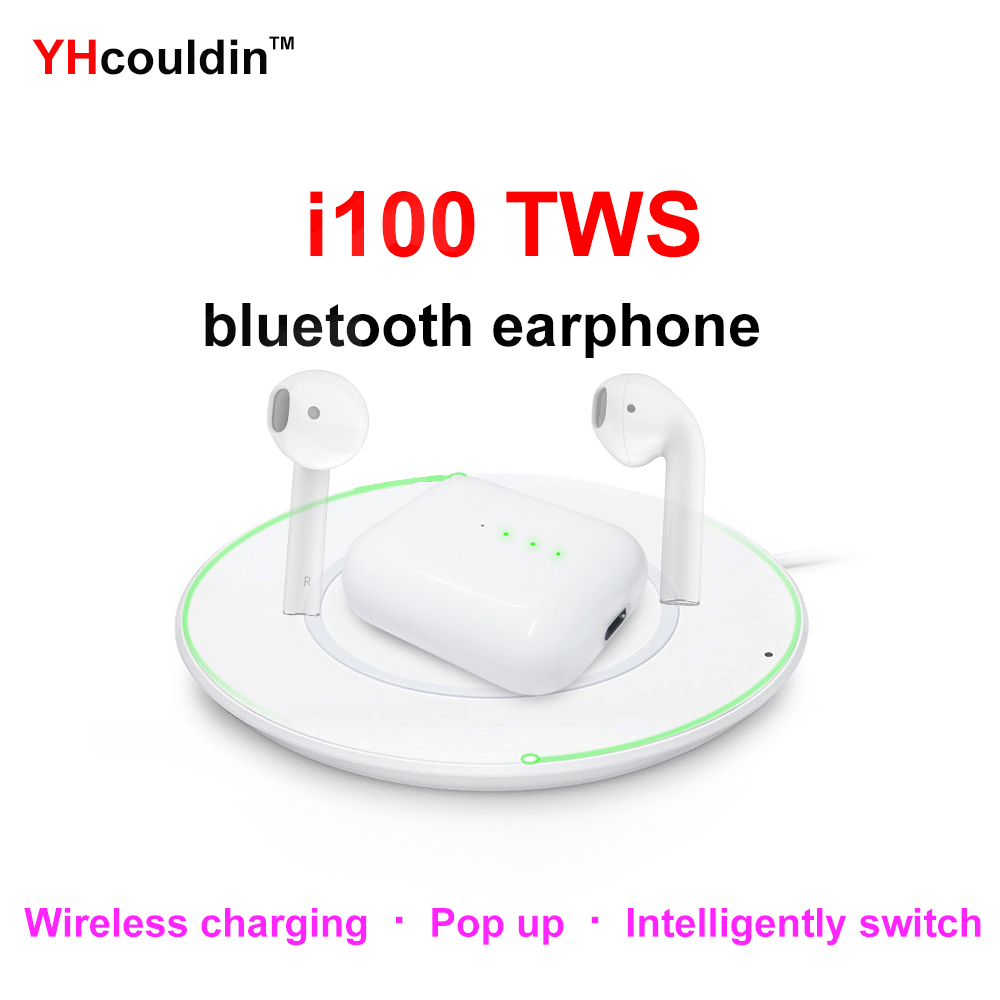 I100 TWS Original 1:1 capteur intelligent Pop Up sans fil Bluetooth écouteur avec charge sans fil